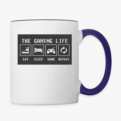 Gaming is life - Contrast Coffee Mug