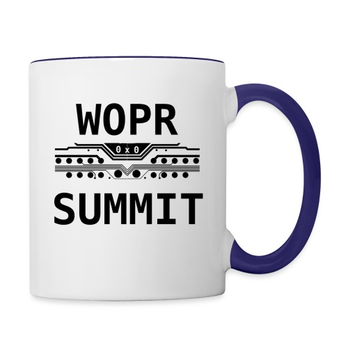WOPR Summit 0x0 Black Text Misc - Contrast Coffee Mug