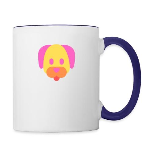 Vibrant Color Dog - Contrast Coffee Mug
