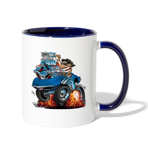 Classic '69 American Sports Car Cartoon - Contrast Coffee Mug