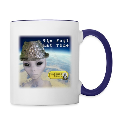 Tin Foil Hat Time (Earth) - Contrast Coffee Mug