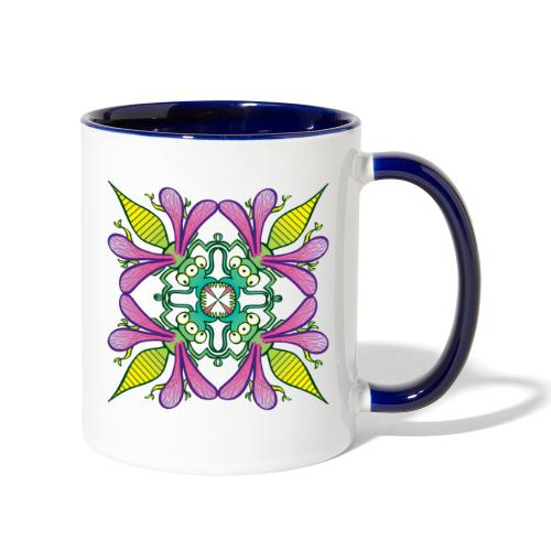 Glowing insects meeting in the middle of the night - Contrast Coffee Mug