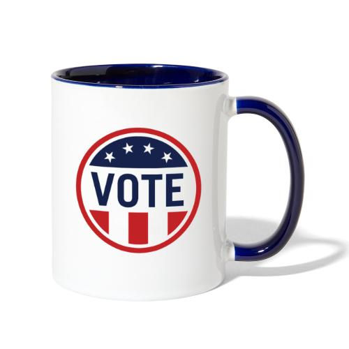 Vote Red White and Blue Stars and Stripes - Contrast Coffee Mug