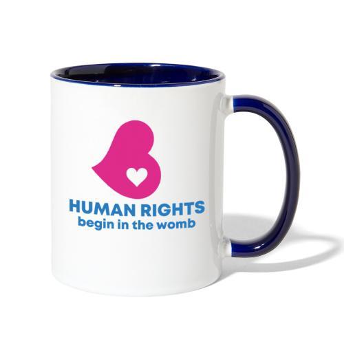 HUMAN RIGHTS - Contrast Coffee Mug