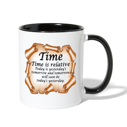 Time Is Relative - Contrast Coffee Mug