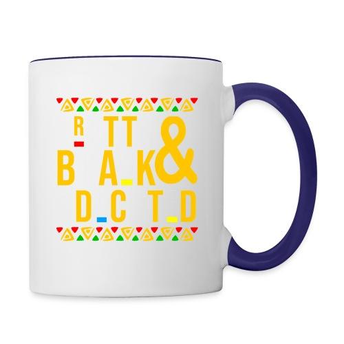 Pretty Black and Educated Black History Month - Contrast Coffee Mug
