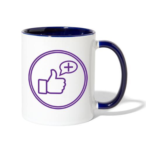 Stay Positive Icons - Contrast Coffee Mug