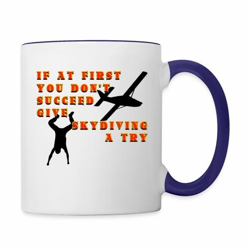 Try Skydiving - Contrast Coffee Mug