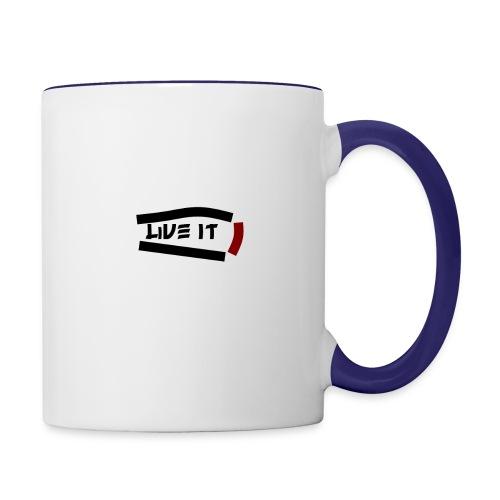Live It - Contrast Coffee Mug