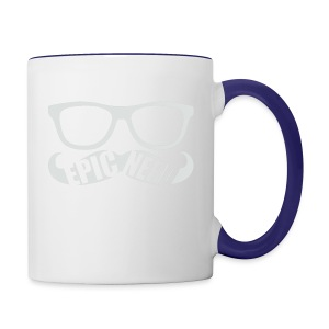 White Epic Nerd Logo - Contrast Coffee Mug