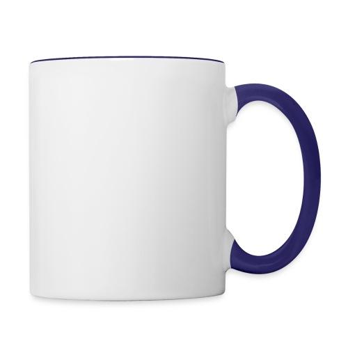 amplify logo // white - Contrast Coffee Mug