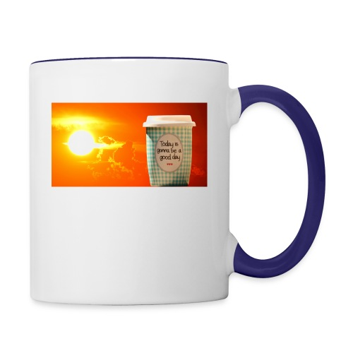 Good day coffee cup motivation message - Contrast Coffee Mug