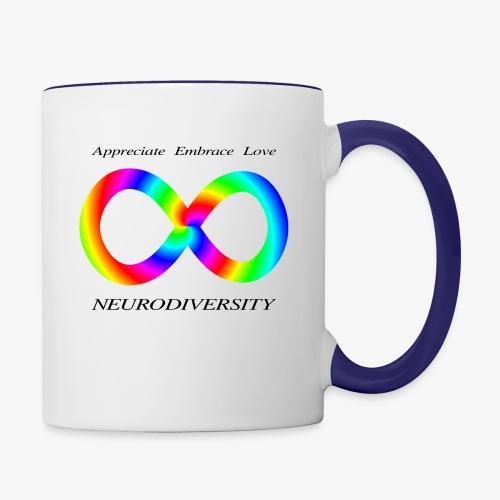 Embrace Neurodiversity with Swirl Rainbow - Contrast Coffee Mug