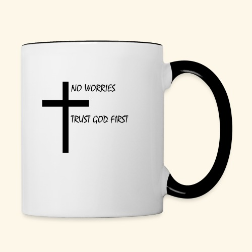 No Worries - Contrast Coffee Mug