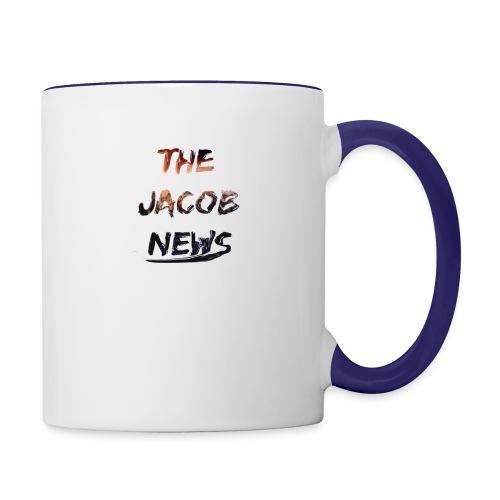 jacob news - Contrast Coffee Mug