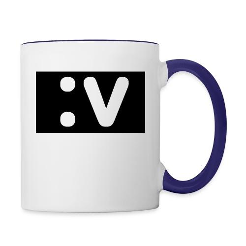 LBV side face Merch - Contrast Coffee Mug