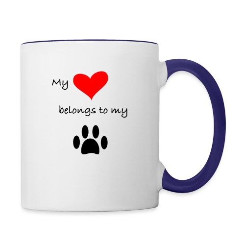 Dog Lovers shirt - My Heart Belongs to my Dog - Contrast Coffee Mug
