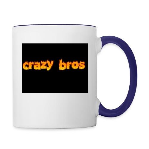 Crazy Bros logo - Contrast Coffee Mug