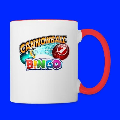 Vintage Cannonball Bingo Logo - Contrast Coffee Mug