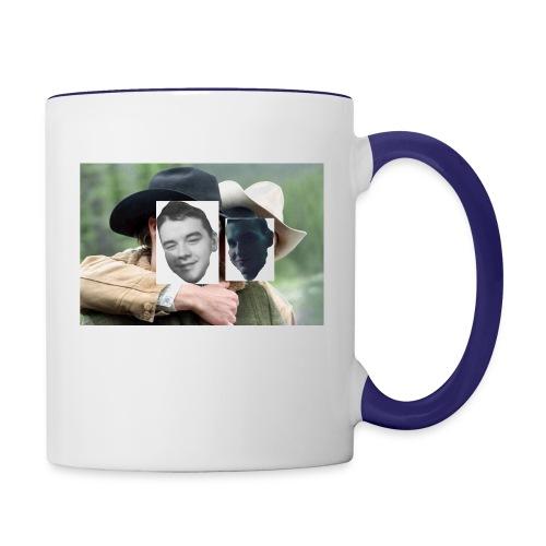 Darien and Curtis Camping Buddies - Contrast Coffee Mug