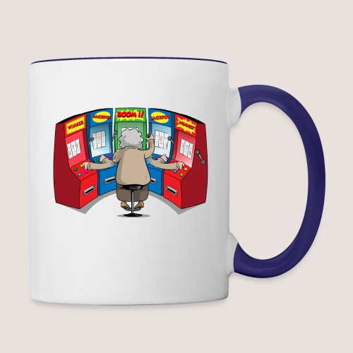 THE GAMBLIN' GRANNY - Contrast Coffee Mug