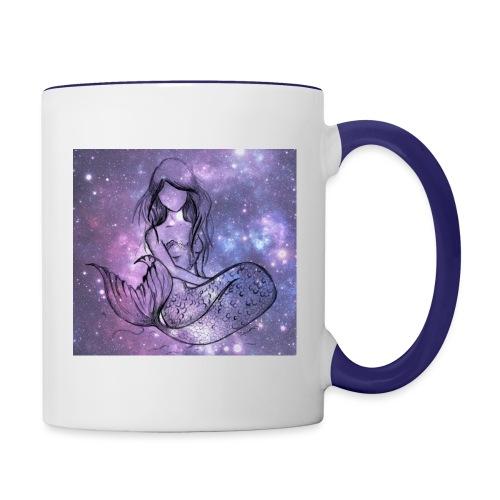 Galaxy Mermaid - Contrast Coffee Mug
