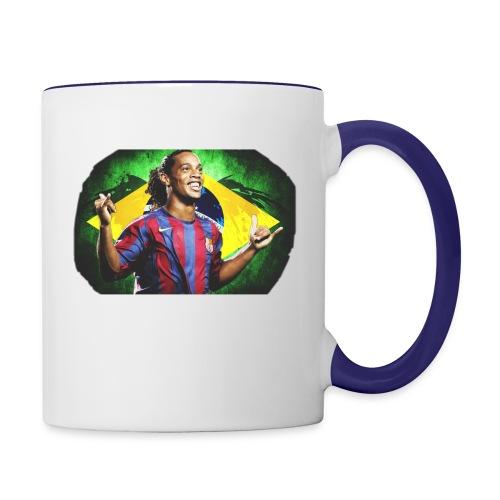 Ronaldinho Brazil/Barca print - Contrast Coffee Mug