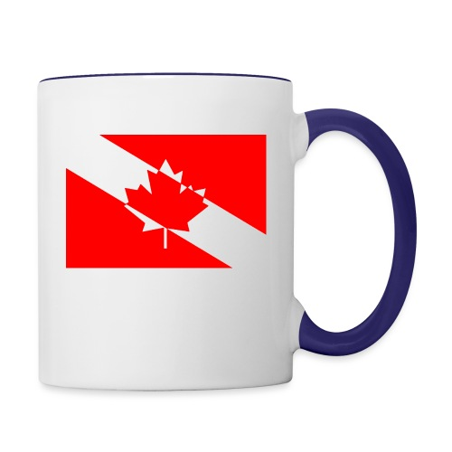 Canadian Diver Flag in Red & White - Contrast Coffee Mug