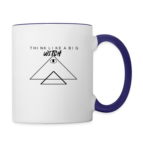 THINK LIKE A BIG WITCH - Contrast Coffee Mug