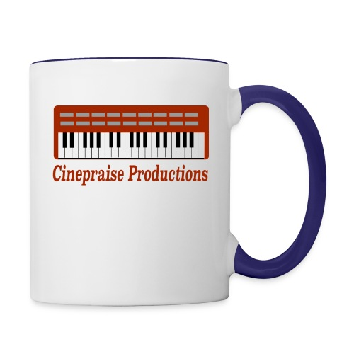 Cinepraise Logo Red Text - Contrast Coffee Mug