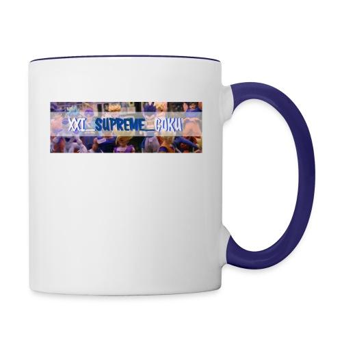 XXI SUPREME GOKU LOGO 2 - Contrast Coffee Mug