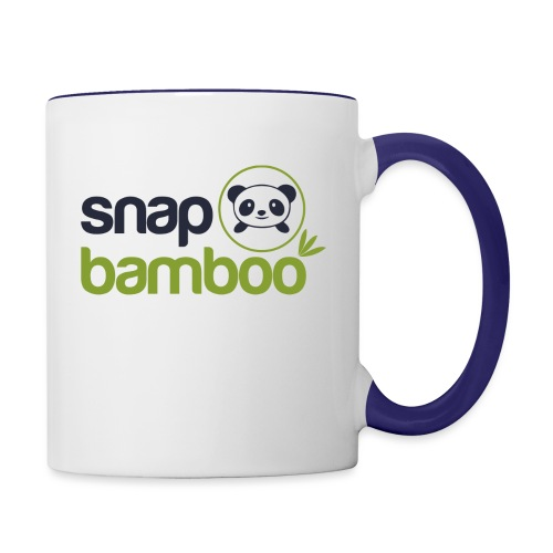 Snap Bamboo Square Logo Branded - Contrast Coffee Mug