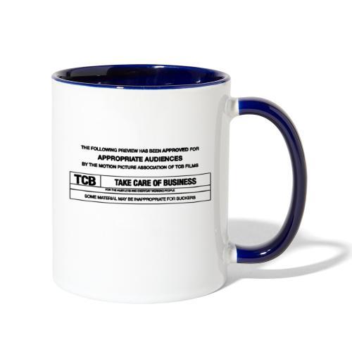 TCB Films Disclamer - Contrast Coffee Mug