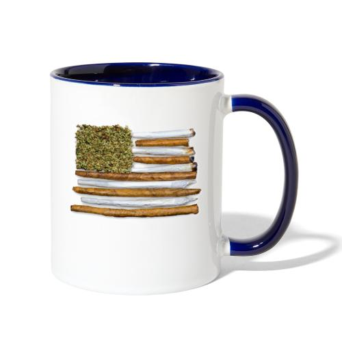 American Flag With Joint - Contrast Coffee Mug