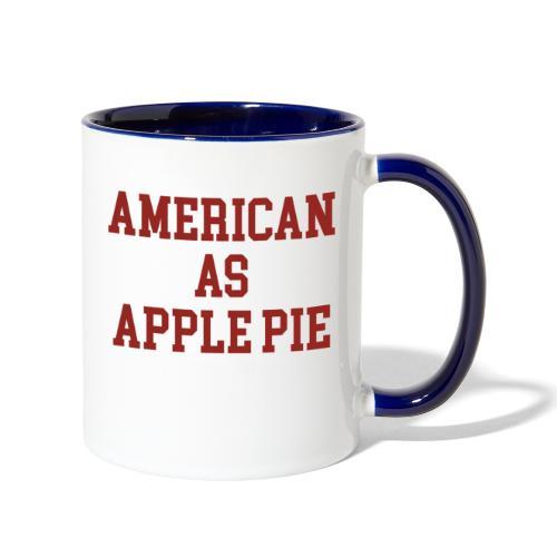 American as Apple Pie - Contrast Coffee Mug