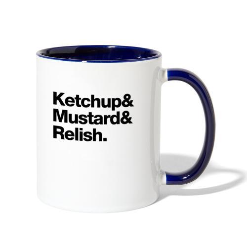 Condiments - Ketchup Mustard Relish - Contrast Coffee Mug