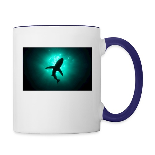 Shark in the abbis - Contrast Coffee Mug
