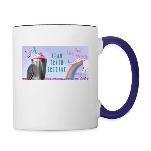 trash brigade unicorns - Contrast Coffee Mug