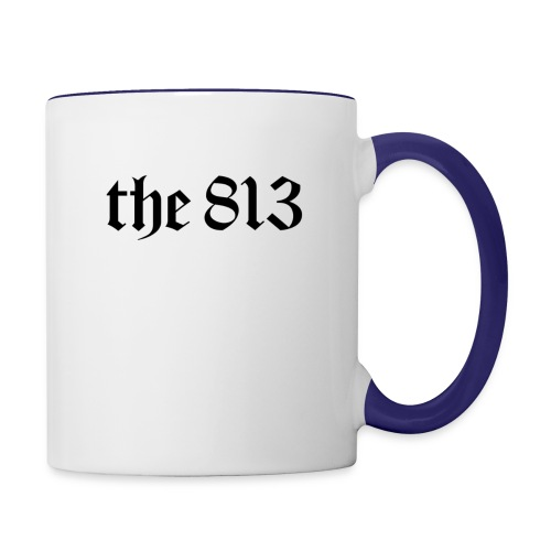 The 813 in Black Lettering - Contrast Coffee Mug