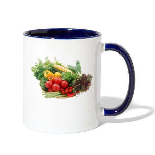 vegetable fruits - Contrast Coffee Mug