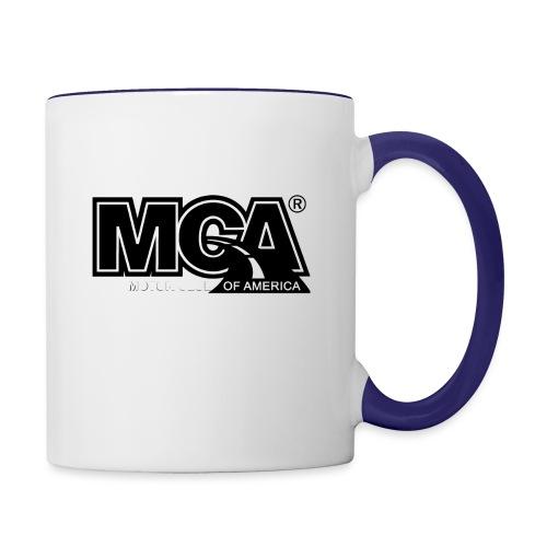 MCA Logo WBG Transparent BLACK TITLEfw fw png - Contrast Coffee Mug