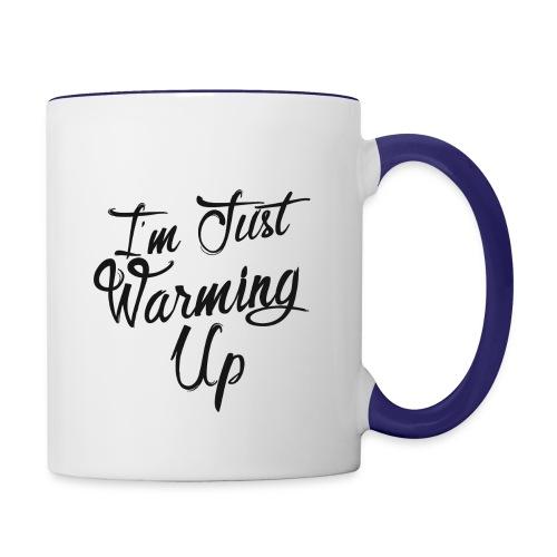 Just warming up-black - Contrast Coffee Mug