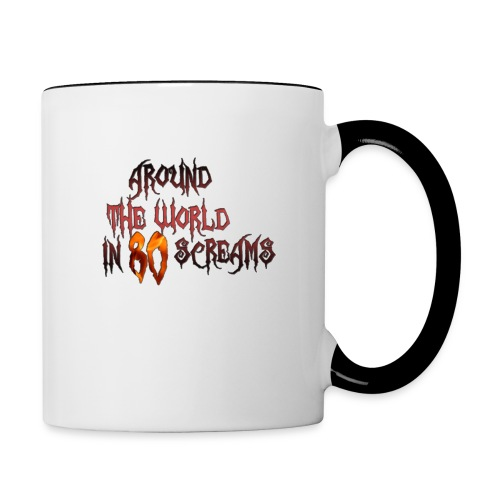 Around The World in 80 Screams - Contrast Coffee Mug