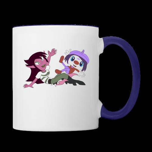 Sandra and Mindy - Contrast Coffee Mug
