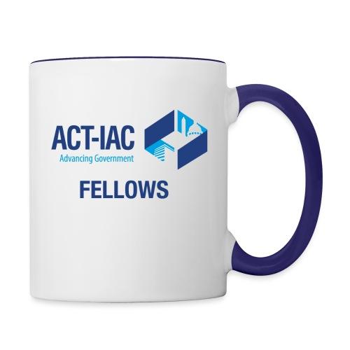 colored WITH TEXT Fellows actiac logo cmyk - Contrast Coffee Mug