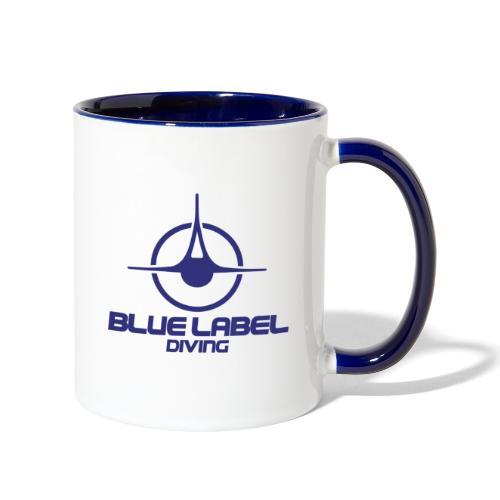 BLD logo with text blue - Contrast Coffee Mug