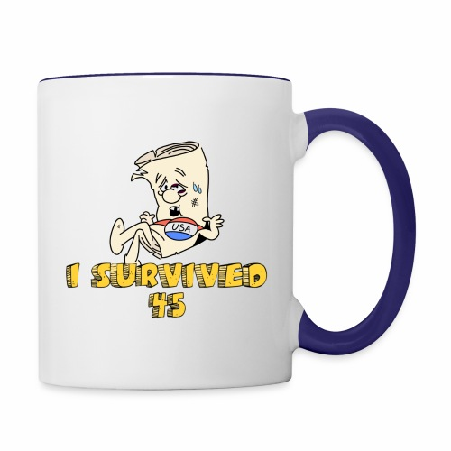 I Survived 45 - Contrast Coffee Mug