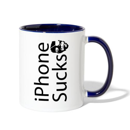iPhone Sucks - Contrast Coffee Mug