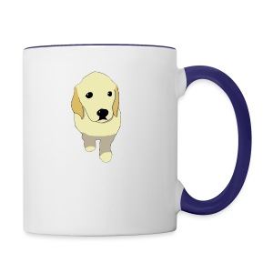 Golden Retriever puppy - Contrast Coffee Mug