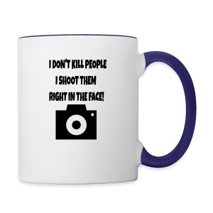 right in the face - Contrast Coffee Mug